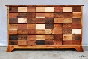 Reclaimed Wood Drawer Caption